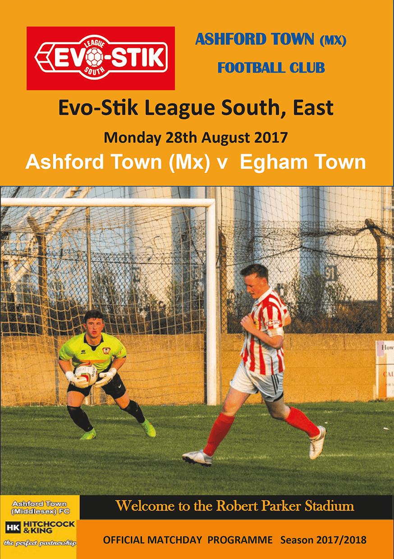 Programme v Egham Town, 28/08/17