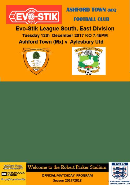Programme v Aylesbury United, 12/12/17